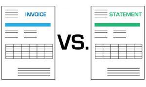 invoice vs statement