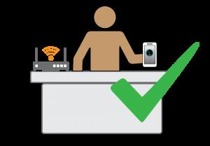 Speedtest test near router